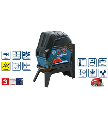 Линеен лазерен нивелир Bosch GCL 2-15 0601066E00 - 15м