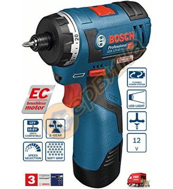 Акумулаторен винтоверт Bosch GSR 12V-20 HX 06019D4101 - 12V/