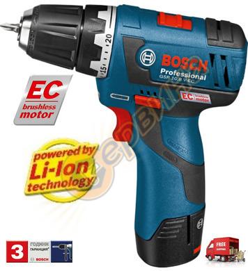 Акумулаторен винтоверт Bosch GSR 10.8 V-EC 06019D4001 - 10.8
