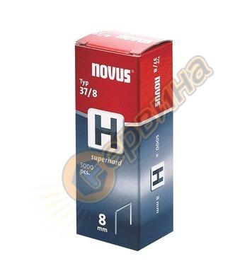 Кламер от тънка тел супер твърди Novus H тип 37/8мм 5000бр к