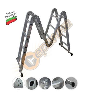 Сгъваема алуминиева стълба - акробат 4 части АронБГ MH243 -