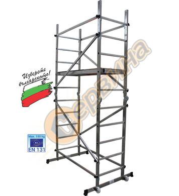 Подвижно алуминиево скеле АронБГ AS300 - 2х10бр