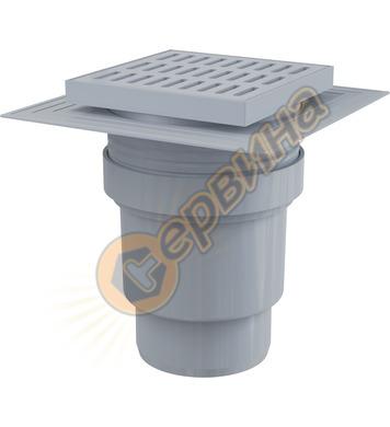 Пластмасов рогов сифон с пластмасова решетка Alcaplast APV11