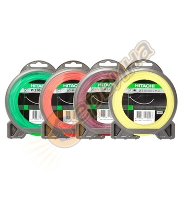 Квадратна корда за моторни коси Hitachi 781025 - 2.4мм/34м