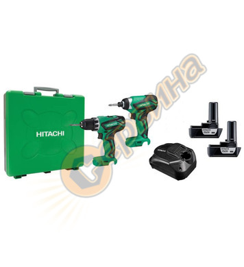 Комплект акумулаторни винтоверти-бормашини Hitachi KC10DML -