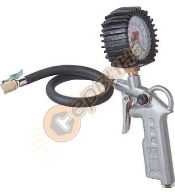 Пистолет за помпане на автомобилни гуми с манометър Gude 281