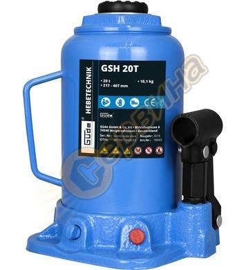 Хидравличен крик тип бутилка  GUDE GSH 20T капацитет 20тона