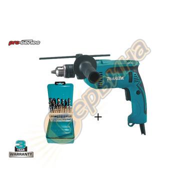 Ударна бормашина Makita HP1640X2 - 710W + Комплект свредла M