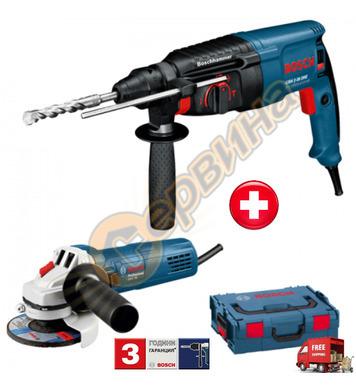 Комплект комбиниран перфоратор Bosch GBH 2-26 DRE 0615990HU5