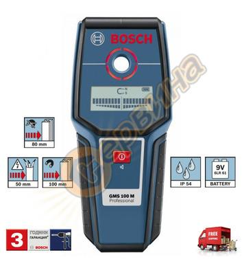 Детектор-скенер Bosch GMS 100 M 0601081100 - 9V