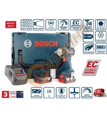 Акумулаторен ударен гайковерт Bosch GDX 18 V-EC 06019B9107 -