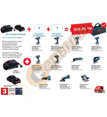Акумулаторен комплект Bosch Pro-Mix - 18V/5.0Ah