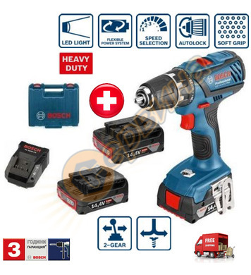 Акумулаторен пробивен винтоверт Bosch GSR 14.4-2-LI Plus 061