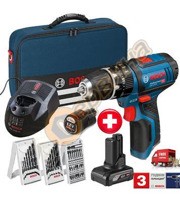 Акумулаторен ударно-пробивен винтоверт Bosch GSB 12V-15 0615