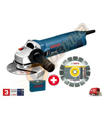 Ъглошлайф Bosch GWS 1000 060182180A + Куфар и диамантен диск