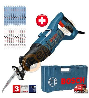 Ножовка - Саблен трион Bosch GSA 1100 0615990EC2 + 20 ножа и