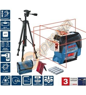 Линеен лазерен нивелир Bosch GLL 3-80 C 0601063R01 - 30м