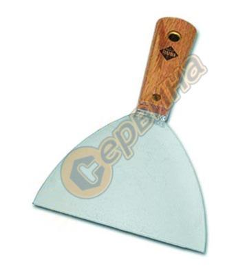 Шпакла с дървена дръжка Rubi Inox 70913 - 150 мм