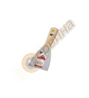 Шпакла с дървена дръжка Rubi Inox 70911 - 75 мм
