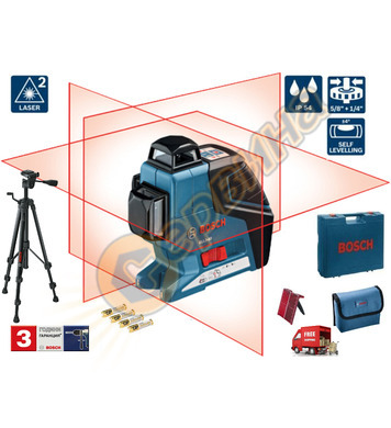 Линеен лазерен нивелир Bosch GLL 3-80 06159940KD + Статив BT