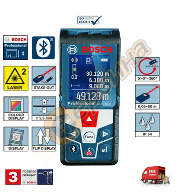 Лазерна ролетка Bosch GLM 50 C 0601072C00 - 50 м