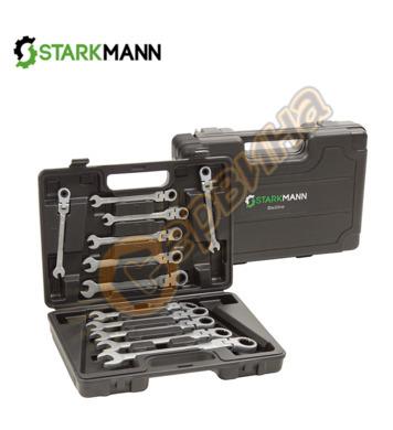 Комплект тресчоти звездогаечни ключове 12 бр (6-19мм)  STARK