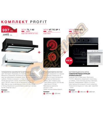 Комплект кухненски електроуреди Teka PROFIT Телескопичен абс