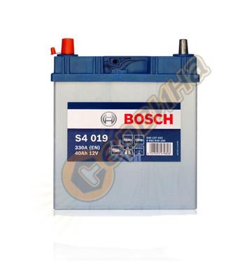 Стартерен акумулатор Bosch S4 019 JIS L+ 0092S40190 - 12V/40