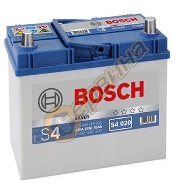 Стартерен акумулатор Bosch S4 020 JIS R+ 0092S40200 - 12V/45
