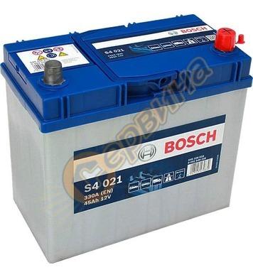 Стартерен акумулатор Bosch S4 021 JIS R+ 0092S40210 - 12V/45