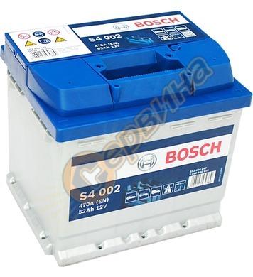 Стартерен акумулатор Bosch S4 002 0092S40020 - 12V/52Ah