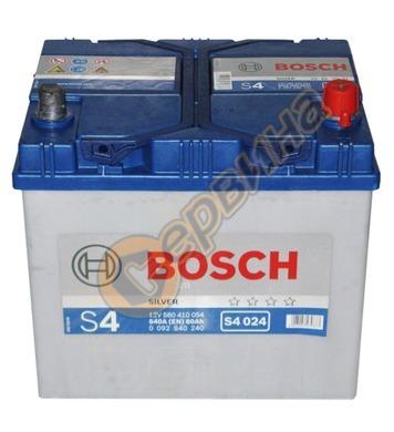 Стартерен акумулатор Bosch S4 024 Asia R+ 0092S40240 - 12V/6