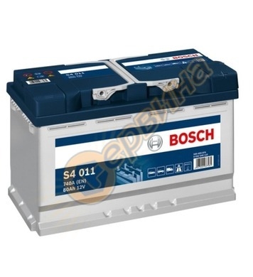 Стартерен акумулатор Bosch S4 011 0092S40110 - 12V/80Ah