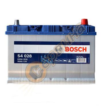Стартерен акумулатор Bosch S4 028 Asia Silver R+ 0092S40280