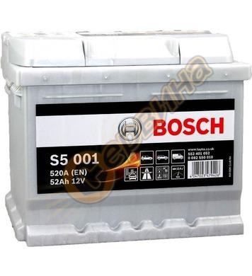 Стартерен акумулатор Bosch S5 001 0092S50010 - 12V/52Ah