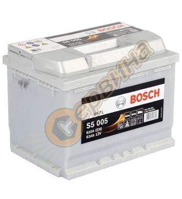 Стартерен акумулатор Bosch S5 005 0092S50050 - 12V/63Ah