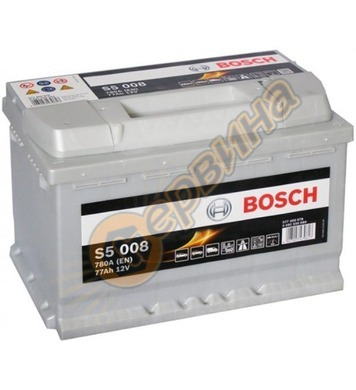 Стартерен акумулатор Bosch S5 008 0092S50080 - 12V/77Ah