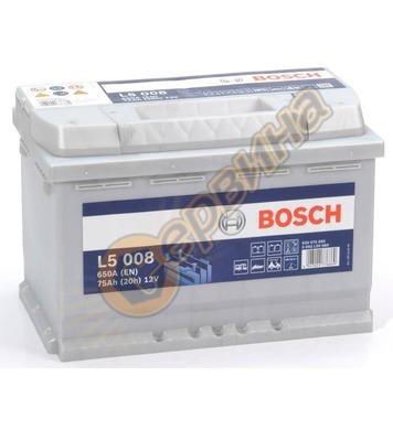 Стартерен полу-тягов акумулатор Bosch L5 008 0092L50080 - 12