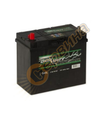 Стартерен акумулатор Gigawatt JIS L+ G45L 0185754557 - 12V/4
