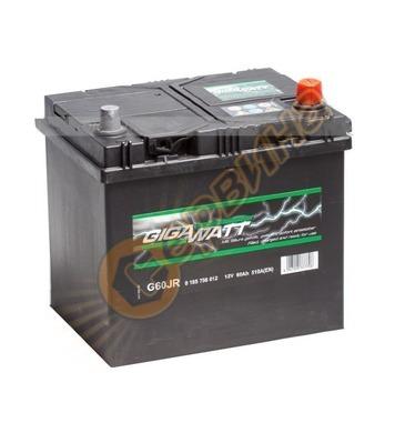 Стартерен акумулатор Gigawatt JIS R+ G60JR 0185756012 - 12V/