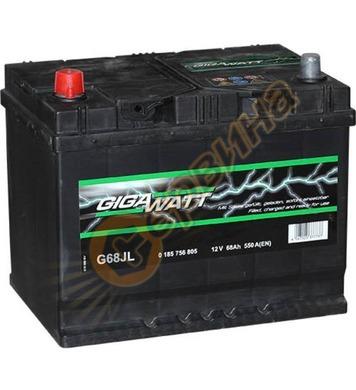 Стартерен акумулатор Gigawatt JIS L+ G68JL 0185756805 - 12V/
