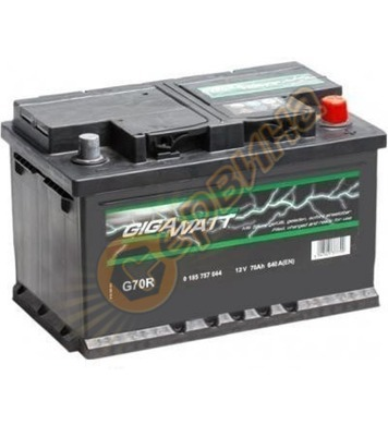 Стартерен акумулатор Gigawatt G70R 0185757009 - 12V/70Ah