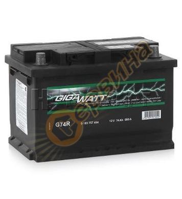 Стартерен акумулатор Gigawatt G74R 0185757404 - 12V/74Ah