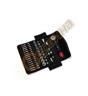 Комплект тресчотка с вложки и накрайници WERA Red Bull Racin