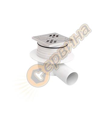 Пластмасов рогов сифон с неръждаема решетка CR SRL 594704100