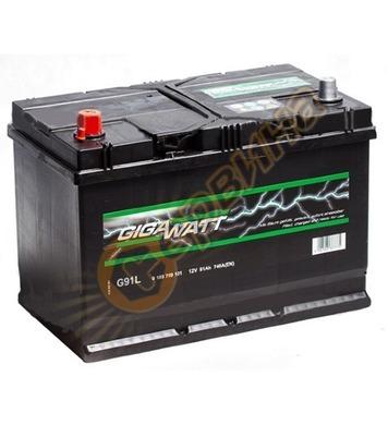 Стартерен акумулатор Gigawatt JIS L+ G91L 0185759101 - 12V/9