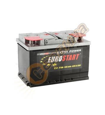 Стартерен акумулатор Westa Eurostart 77 ES 6СТ-77АЗ(0) - 12V