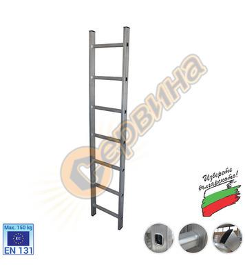 Професионална еднораменна алуминиева стълба АронБг AL CH107
