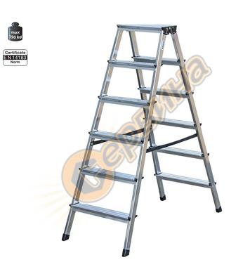 Двустранна алуминиева стълба Krause Dopplo 120359 - 2X6бр
