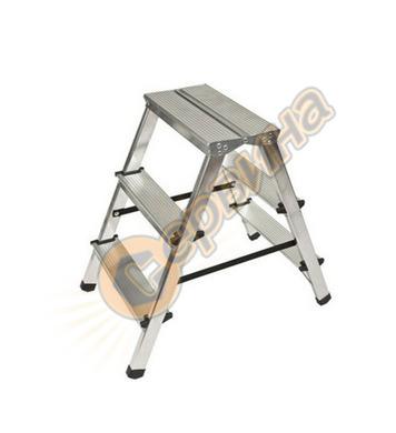 Двустранна алуминиева стълба Drabest  03080023 - 2Х3бр - 2Х3
